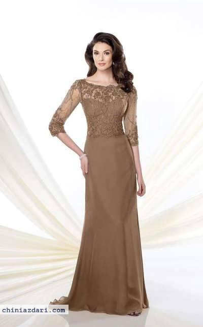 لباس مجلسی یقه وآستین گیپور 25 مدل لباس مجلسی زنانه زیبا گیپور و دانتل